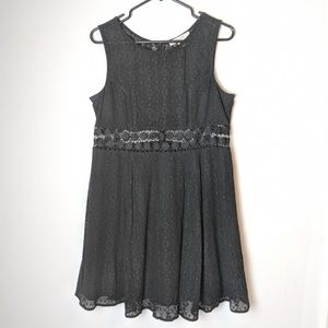 Adam Levine, sleeveless black lace, dress, large